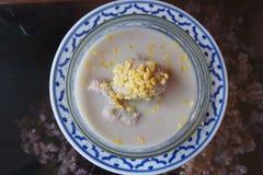 Banana in coconut milk Stock Image