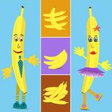 Banana collage illustration Royalty Free Stock Photography