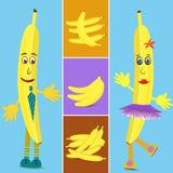 Banana collage illustration Royalty Free Stock Photography