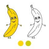 Banana. Coloring book page Royalty Free Stock Photo