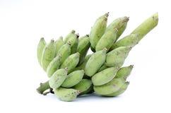 Banana coltivata su fondo bianco. Fotografia Stock