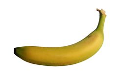 Banana com trajeto Fotografia de Stock Royalty Free