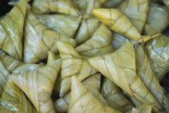 Banana con riso appiccicoso Immagini Stock Libere da Diritti