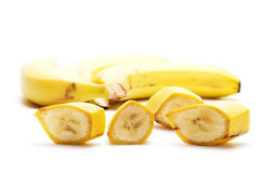 Banana cortada Foto de Stock
