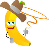 Banana cowboy with lasso Royalty Free Stock Photo
