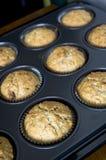 Cupcake on baking tray Stock Image