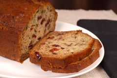 Banana cranberry nut bread Royalty Free Stock Image