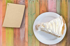 Banana cream custard pie Stock Images