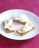 Banana cream pie Royalty Free Stock Image