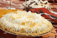 Banana Cream Pie Stock Photos