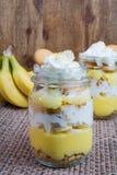 Banana cream pudding parfait Royalty Free Stock Image