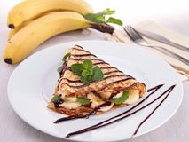 Banana crepe stock photo