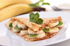 Banana crepe Stock Photography