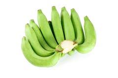 Banana crua isolada no fundo branco Imagem de Stock Royalty Free