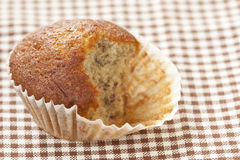 Banana Cup Cake After Eating Royalty Free Stock Photography