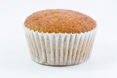 Banana cup cake. Isolate on white background Stock Image