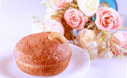 Banana cup cake Royalty Free Stock Images