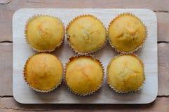 Banana cup cake sweet dessert bakery. Royalty Free Stock Photo