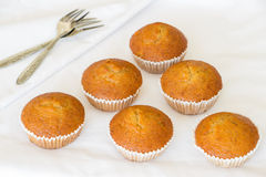 Banana cup cake Stock Images