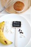 Banana Cupcake Concept Royalty Free Stock Image