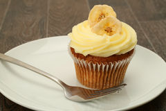 Banana cupcake Stock Photo