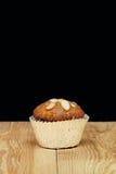 Banana cupcake, very yummy and delicious banana cake and almond Stock Image