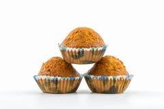 Banana cupcake. Stock Photos