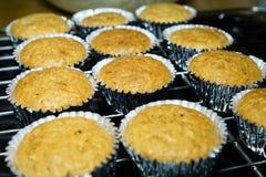 Banana cupcakes Royalty Free Stock Photos