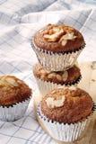 Banana cupcakes, very yummy and delicious banana cake and almond Royalty Free Stock Photo