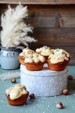 Banana cupcakes Stock Images