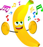 Banana with cymbals Royalty Free Stock Photos