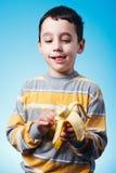 Banana da casca Fotografia de Stock Royalty Free