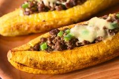 Banana-da-terra cozidos enchidos Imagens de Stock