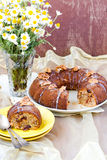 Banana and dates ring cake Royalty Free Stock Photo