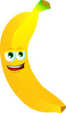 Banana de sorriso Fotos de Stock Royalty Free