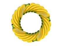 Banana del cerchio Fotografie Stock