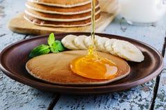 Banana del pancake Immagine Stock Libera da Diritti