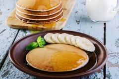 Banana del pancake Fotografie Stock
