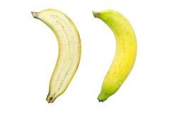 Banana della fetta isolata su fondo bianco Immagini Stock Libere da Diritti