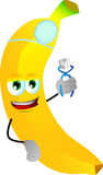 Banana dentist holding teeth Royalty Free Stock Photography