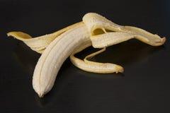 Banana descascada fotografia de stock royalty free