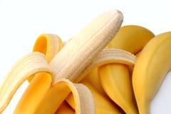 Banana descascada Foto de Stock