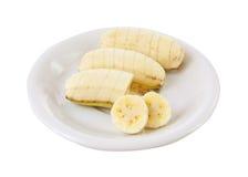 Banana on dish Royalty Free Stock Photo