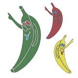 Banana do pop art Fotografia de Stock Royalty Free