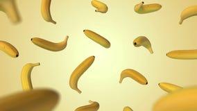 Banana do voo no fundo do inclinação ilustração do vetor