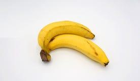 Banana dois real Fotografia de Stock Royalty Free