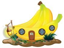 Banana dom z lampionem ilustracja wektor