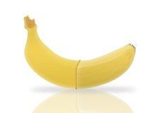 Banana e preservativo Imagens de Stock Royalty Free