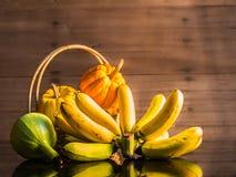 Banana e zucche Fotografia Stock Libera da Diritti