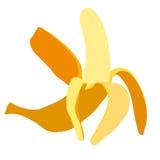 Banana. Edible peeled yellow banana peel Stock Photos